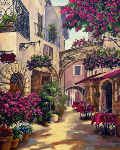 2021 Best Hot Sale Landscape Street Paint By Numbers Kits Uk VM90786