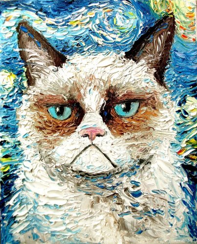 2021 Abstract Art Cat Van Go Paint By Numbers UK VM95529