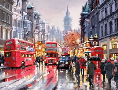 2021 Beautiful Landscape City Diy Paint By Numbers Uk VM90352