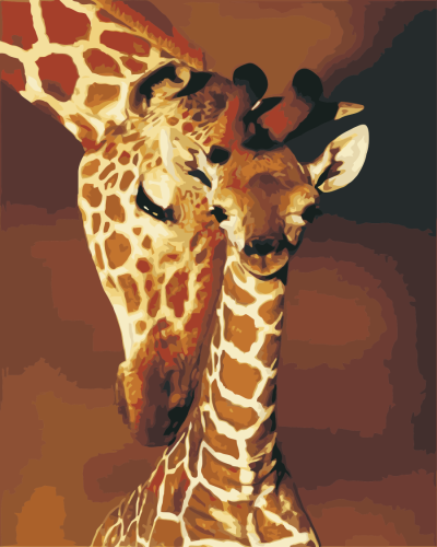 2021 Oil Painting Style Giraffe Diy Paint By Numbers Kits Hot Sale Uk WM1349