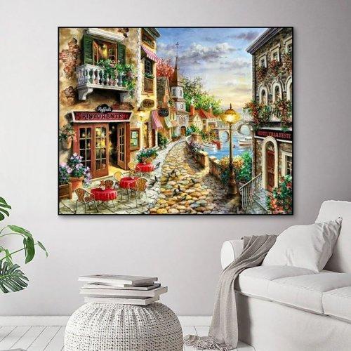 2021 Best Hot Sale Landscape Paint By Numbers Kits Uk VM92739