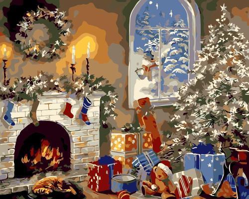 2021 Christmas Series Diy Paint By Numbers Kits Uk WM1454