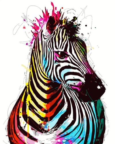 2021 Zebra Diy Paint By Numbers Kits Uk SY004