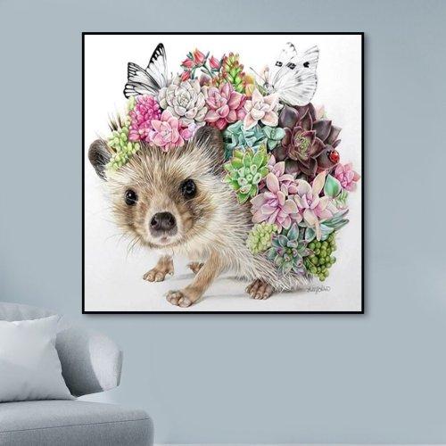 2021 New Hot Sale Hedgehog Diy Paint By Numbers Kits Uk VM90099