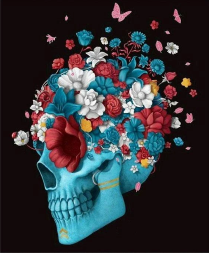 2021 Colorful Modern Art Skull Paint By Numbers Kits Uk VM90030