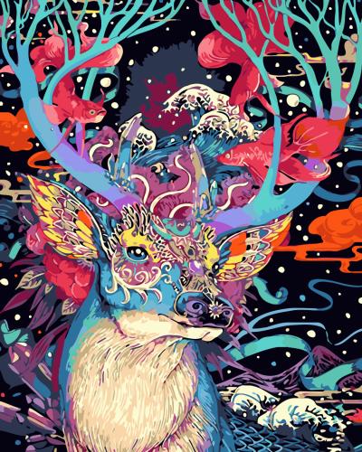 2021 Best Fantasy Style Deer Diy Paint By Numbers Kits Hot Sale Uk WM637
