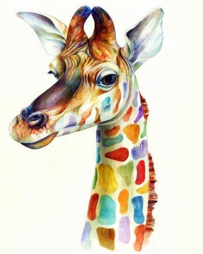 2021 Best Cute Cartoon Giraffe Diy Paint By Numbers Kits Online Sale Uk WM555