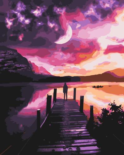 2021 Best Fantasy Style Landscape Diy Paint By Numbers Kits Hot Sale Uk WM1429