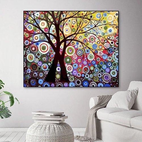 2021 Tree Diy Paint By Numbers Kits Uk WM1107