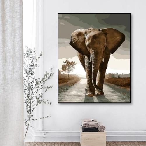 2021 New Hot Sale Animal Elephant Paint By Numbers Kits Uk XQ1975