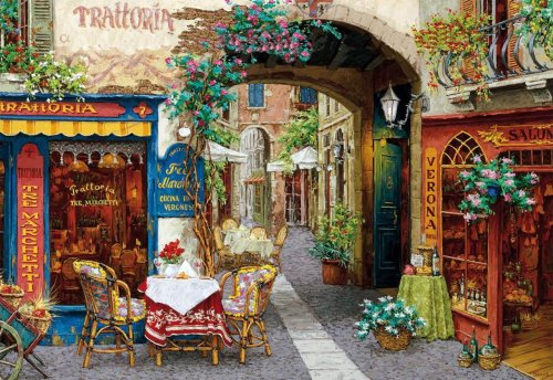 2021 Best Hot Sale Landscape Street Paint by Numbers Kits UK DIY VM96903