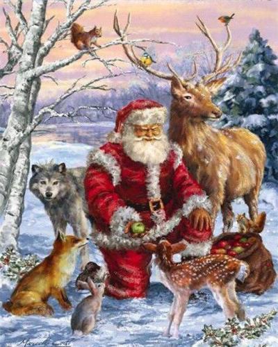 2021 Christmas Series Diy Paint By Numbers Kits Uk NP1142