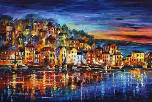 2021 Best Hot Sale Night Lights Building Paint By Numbers Kits UK VM67407