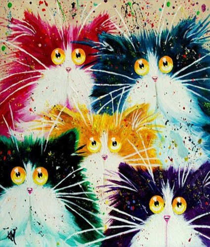 2021 New Arrival Hot Sale Pet Cat Paint By Numbers Kits Uk VM90616