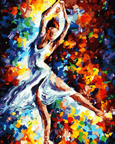 2021 Colorful Modern Art Dancer Diy Paint By Numbers Kits Uk WM886