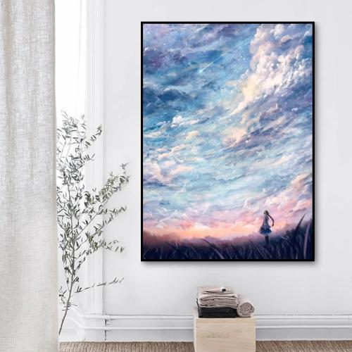 2021 Fantasy Sky Landscape Diy Paint By Numbers Kits Uk VM95020