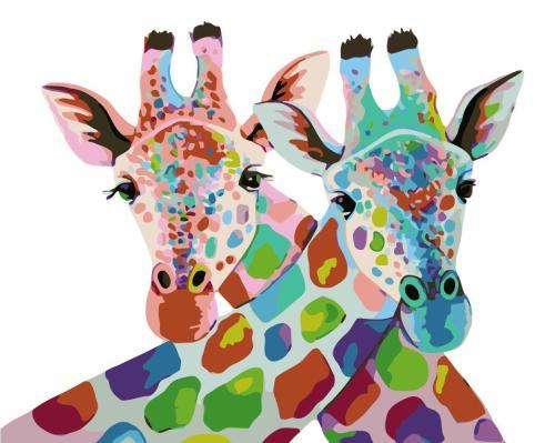 2021 Colorful Cute Cartoon Giraffe Diy Paint By Numbers Kits Hot Sale Uk WM933