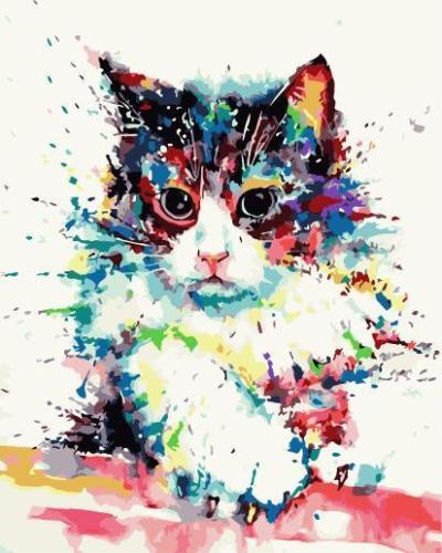2021 Cat Diy Paint By Numbers Kits Online 2020 Hot Sale Uk WM1495