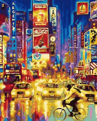 2021 Hot Sale Landscape City Night View Diy Paint By Numbers Kits Uk VM86063