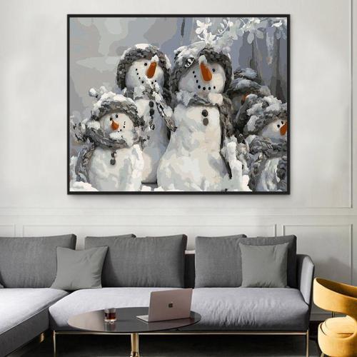 2021 Christmas Series Diy Paint By Numbers Kits Uk NP1128