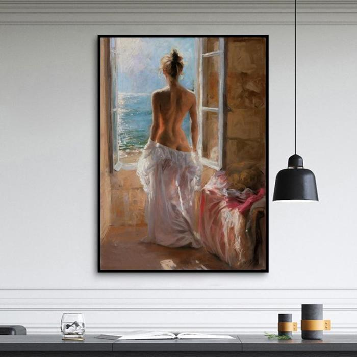 2021 Oil Painting Styles Beautiful Girl Diy Paint By Numbers Kits UK VM94905