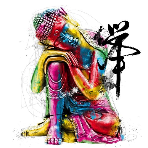 2021 Colorful Buddha Statues Diy Paint By Numbers Kits UK VM54617
