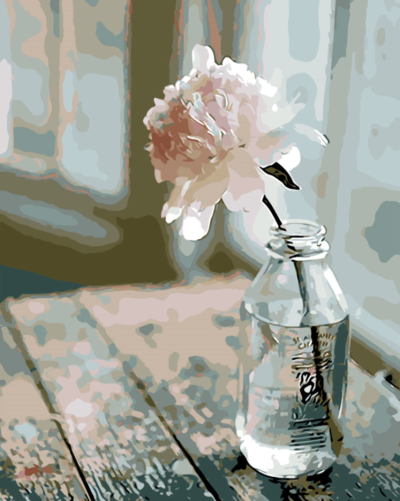 2021 New Beautiful Flower In Bottle Diy Paint By Numbers Hot Sale Uk VM90301