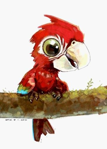 2021 Best Cute Cartoon Parrot Paint By Numbers Kits UK VM97502