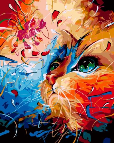 2021 Hot Sale Colourful Cat Diy Paint By Numbers Kits Uk PH9464