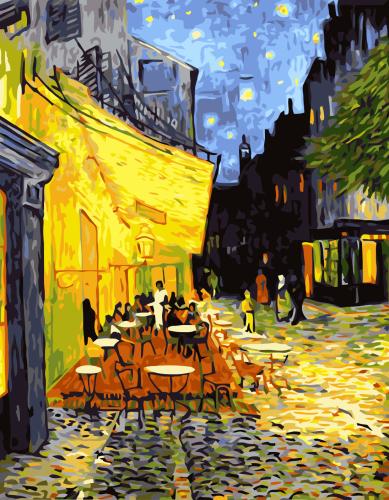 2021 Van Gogh Diy Paint By Numbers Kits Uk E140