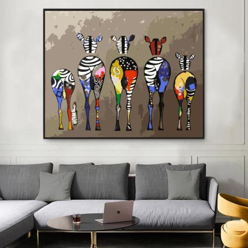 2021 Hot Sale Multiple Zebras Diy Paint By Numbers Kits Uk WM881