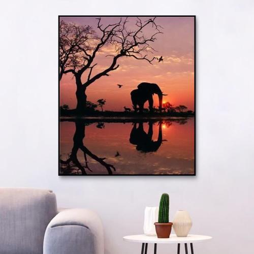 2021 Hot Sale Animal Diy Paint By Numbers Kits Uk Y5549