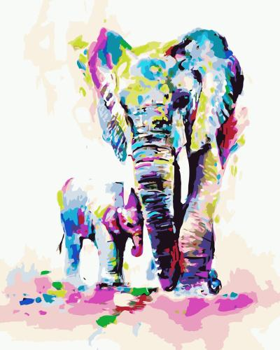 2021 Watercolor Elephant Diy Paint By Numbers Kits New Arrival Hot Sale Uk WM175