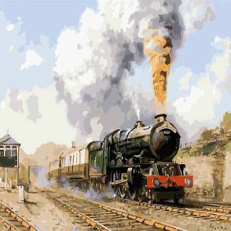 2021 New Hot Sale Train Paint By Numbers Kits UK VM95822