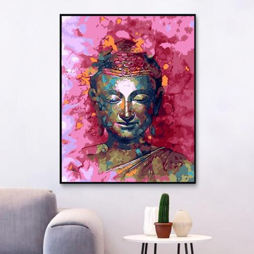 2021 Buddha & Flower Diy Paint By Numbers Kits For Adults Uk YM304