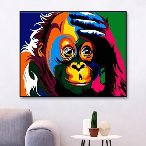 2021 Colorful Modern Art Monkey Paint By Numbers Kits Uk WM677
