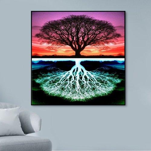 2021 Tree Diy Paint By Numbers Kits Uk TM90174