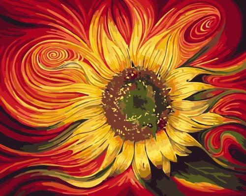 2021 Hot Sale Sunflower Diy Paint By Numbers Kits Uk PH9577