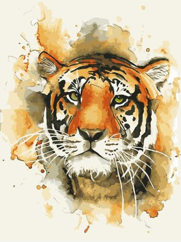 2021 New Arrival Hot Sale Animal Tiger Paint By Numbers Kits Uk WM439