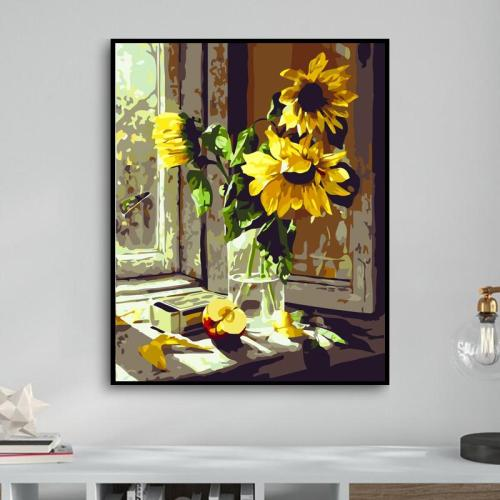 2021 Beautiful Sunflower Paint By Numbers Kits Uk GX200
