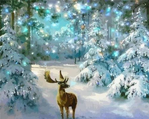 2021 Christmas Series Diy Paint By Numbers Kits Uk NP1156