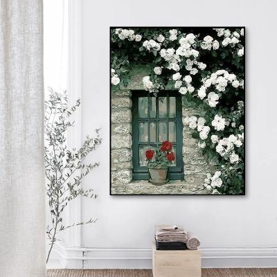2021 Beautiful White Flower Diy Paint By Numbers Kits Online Sale UK WM623
