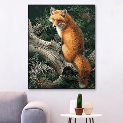 2021 New Arrival  Fox Diy Paint By Numbers Kits Hot Sale Uk XQ495