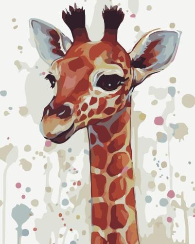 2021 Best Cute Giraffe Diy Paint By Numbers Kits Online Hot Sale Uk YM269