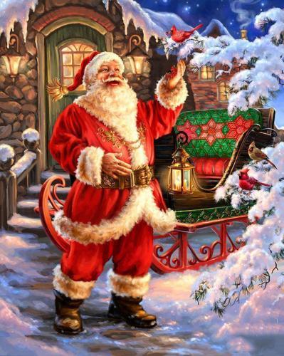 2021 Christmas Series Diy Paint By Numbers Kits Uk VM90131