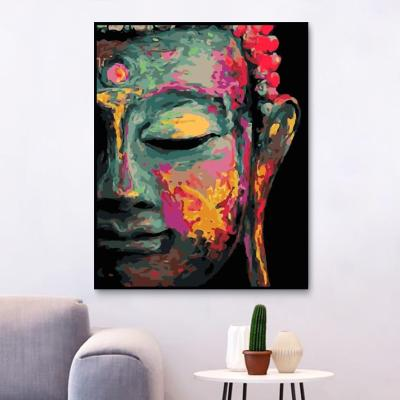 2021 New Art Buddha Diy Paint By Numbers Kits Online Sale Uk WM1630