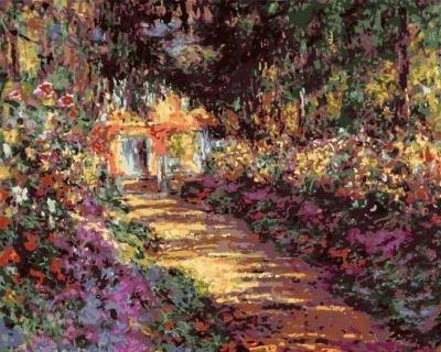 2021 Claude Monet's Beautiful Garden Diy Paint By Numbers Kits Hot Sale Uk BN91242