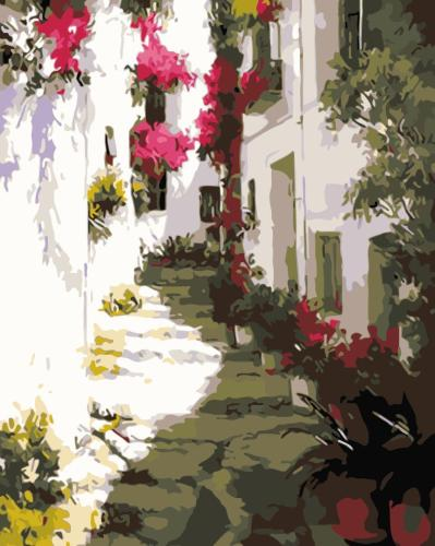 2021 Beautiful Landscape Street Paint By Numbers Kits Uk WM882
