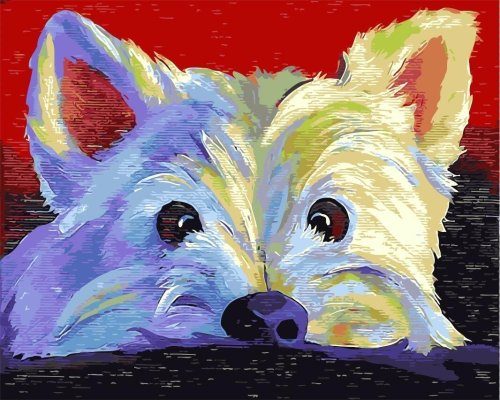 2021 Colorfu Lovely Dog Paint By Numbers Kits UK VM95935