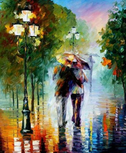 2021 Hot Sale Lovers Under Umbrella Paint By Numbers Kits Uk XB937